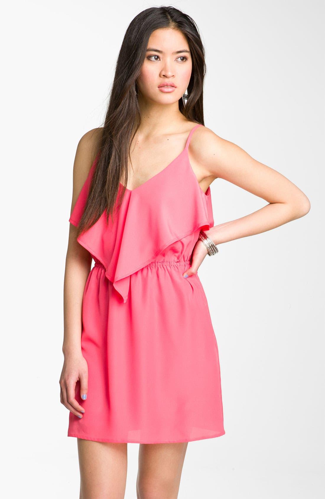 Main Image - Mimi Chica Scarf Dress (Juniors)