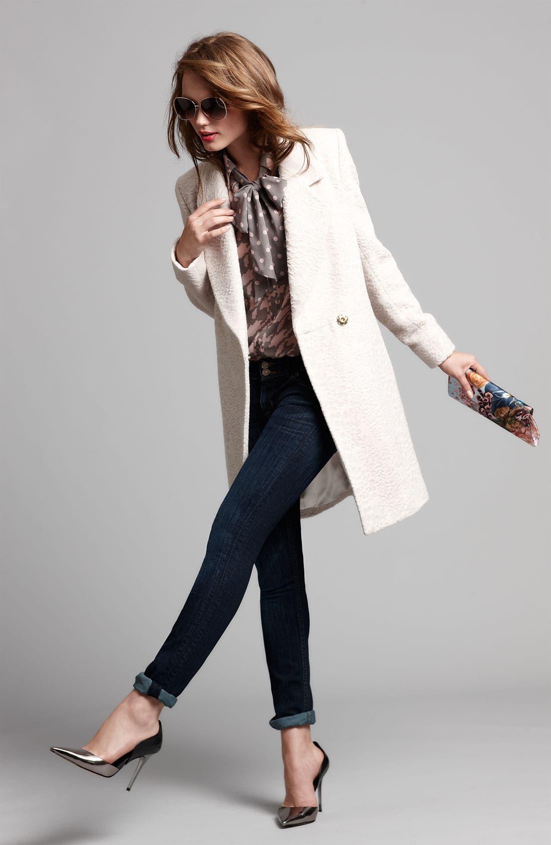Alternate Image 6  - Tahari 'Robyn' Textured Coat