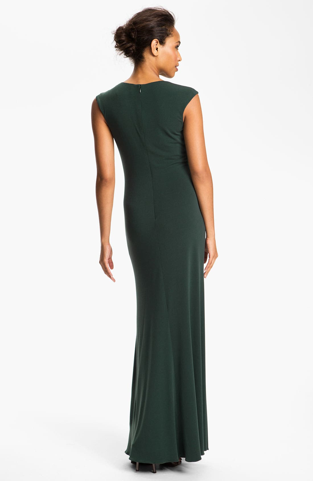 Alternate Image 2  - JS Boutique Embellished Front Ruched Jersey Gown