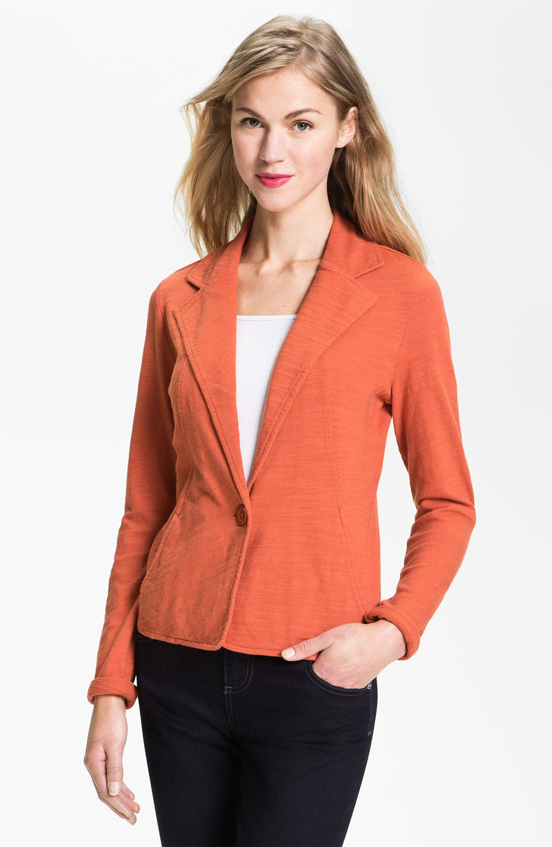 Alternate Image 1 Selected - Caslon® One Button Knit Blazer