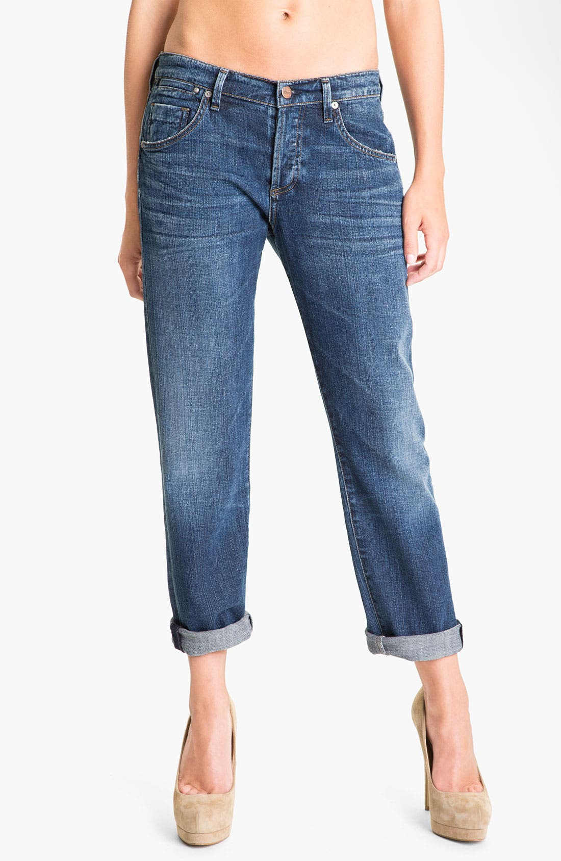 'Dylan' High Rise Loose Fit Jeans,                         Main,                         color, Forever