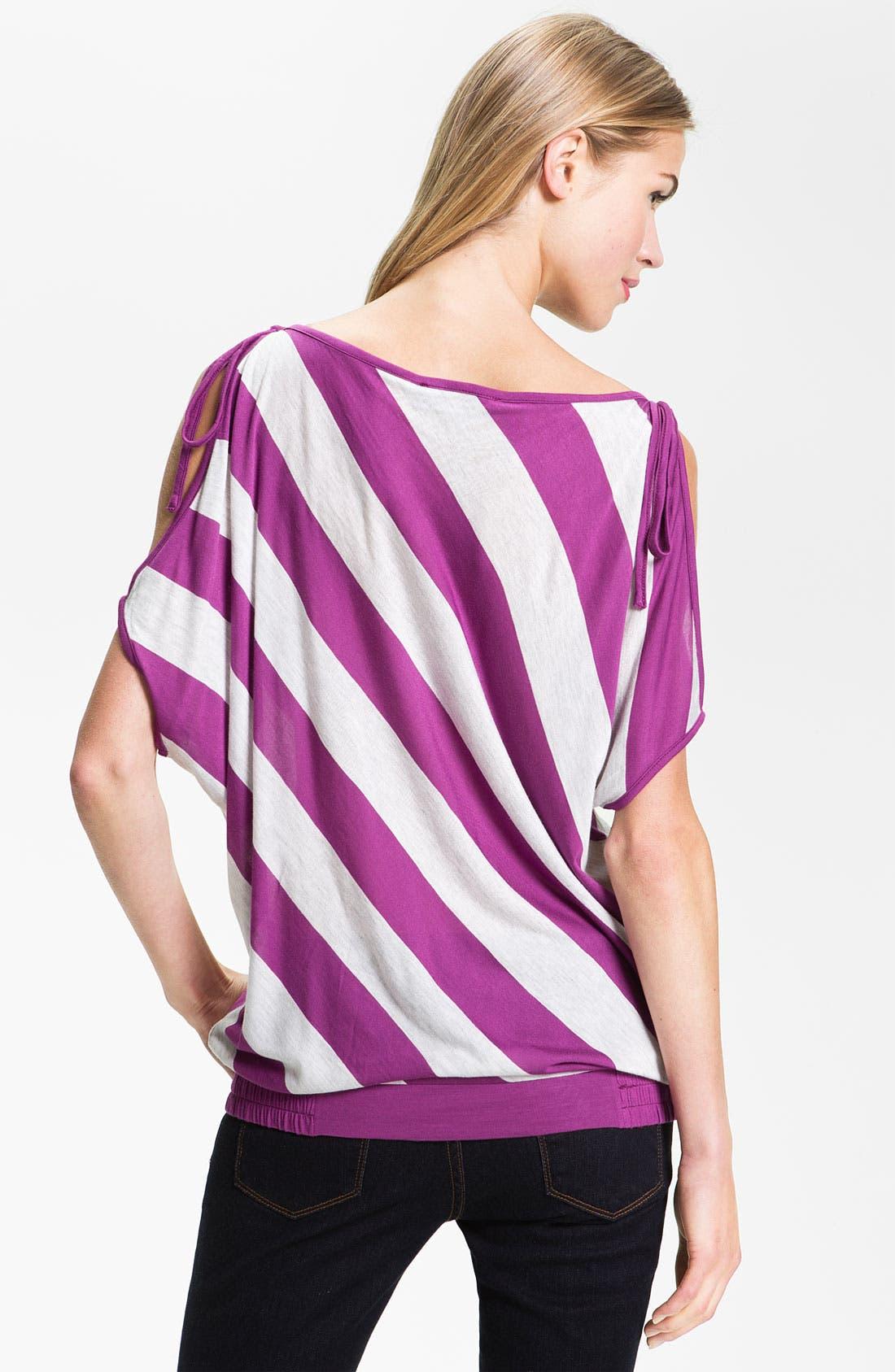 Alternate Image 2  - Current Affair Stripe Cold Shoulder Top