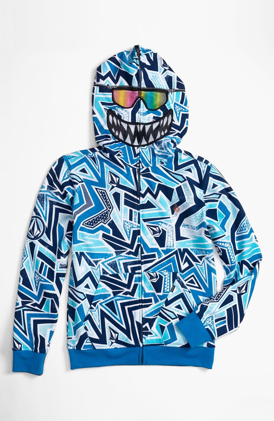 Alternate Image 1 Selected - Volcom 'Ktex' Zip Up Mask Hoodie (Big Boys)