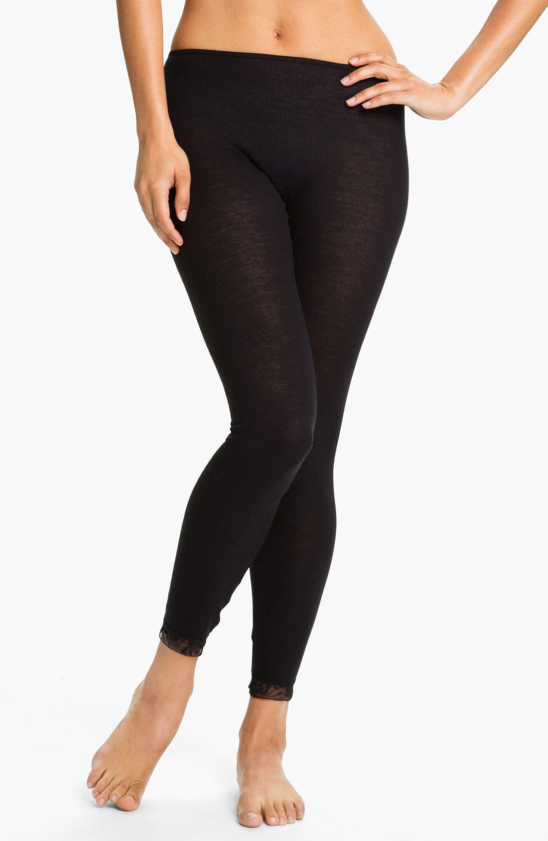 Alternate Image 1 Selected - Hanro 'Woolen Lace' Leggings
