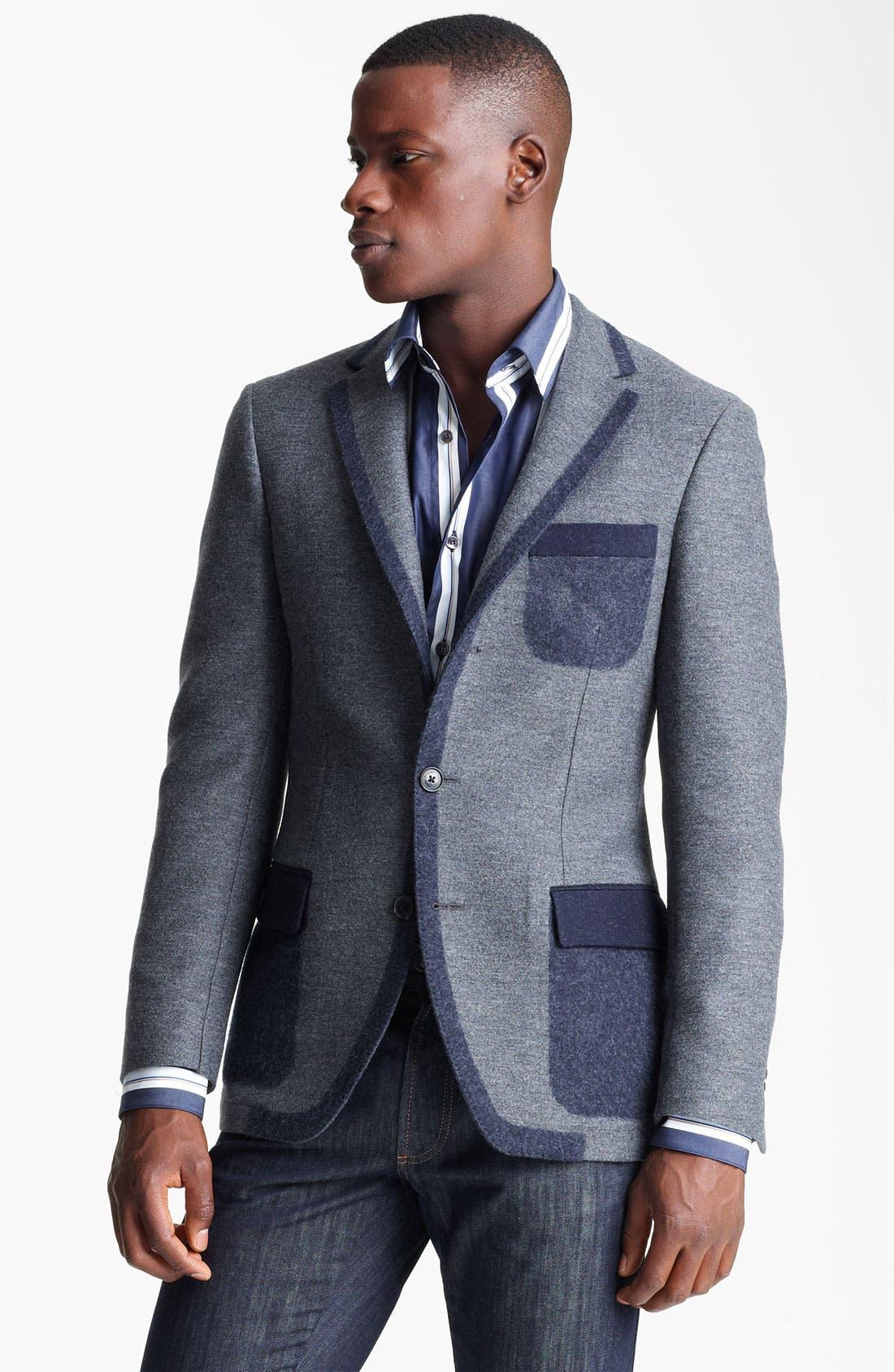 Main Image - Salvatore Ferragamo 'Giacca Monopetto' Wool Blend Sportcoat