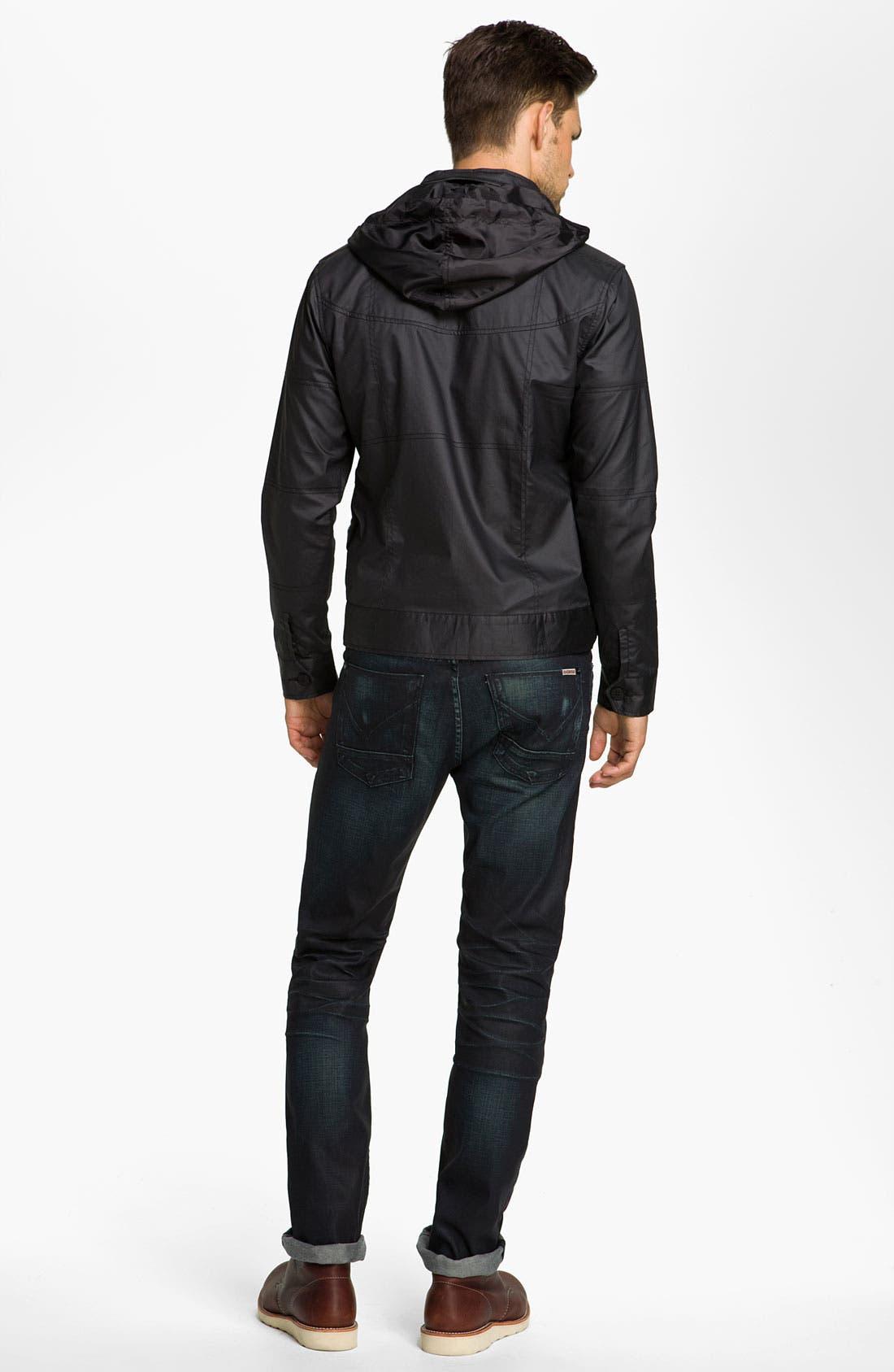 Alternate Image 4  - Kane & Unke Coated Cotton Trim Fit Jacket