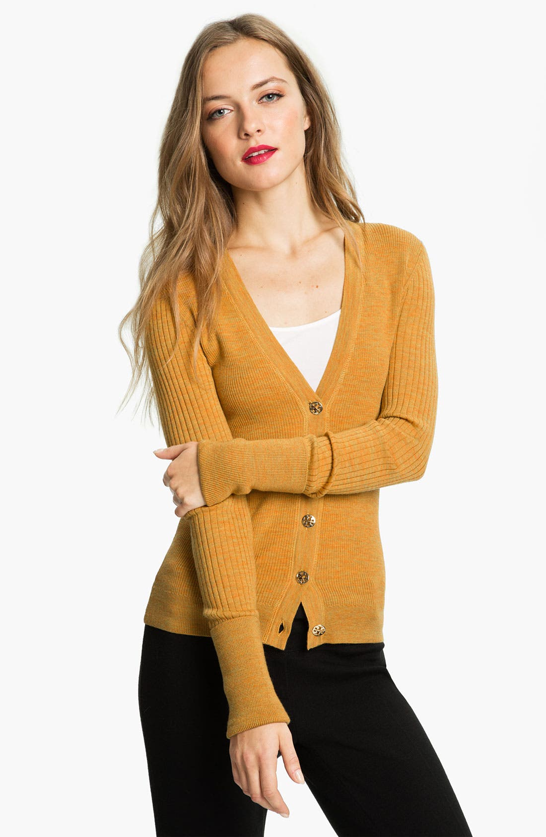 Main Image - Tory Burch 'Shrunken Simone' Cardigan