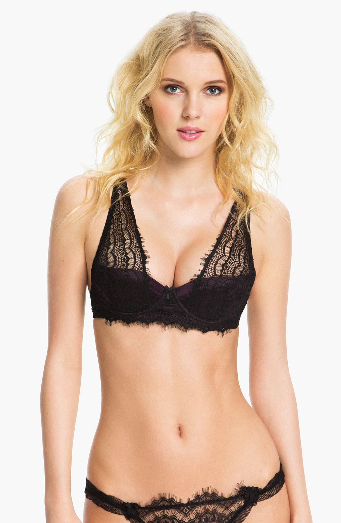 Main Image - Mimi Holliday 'Bisou Bisou Berry' Padded Underwire Shoulder Bra