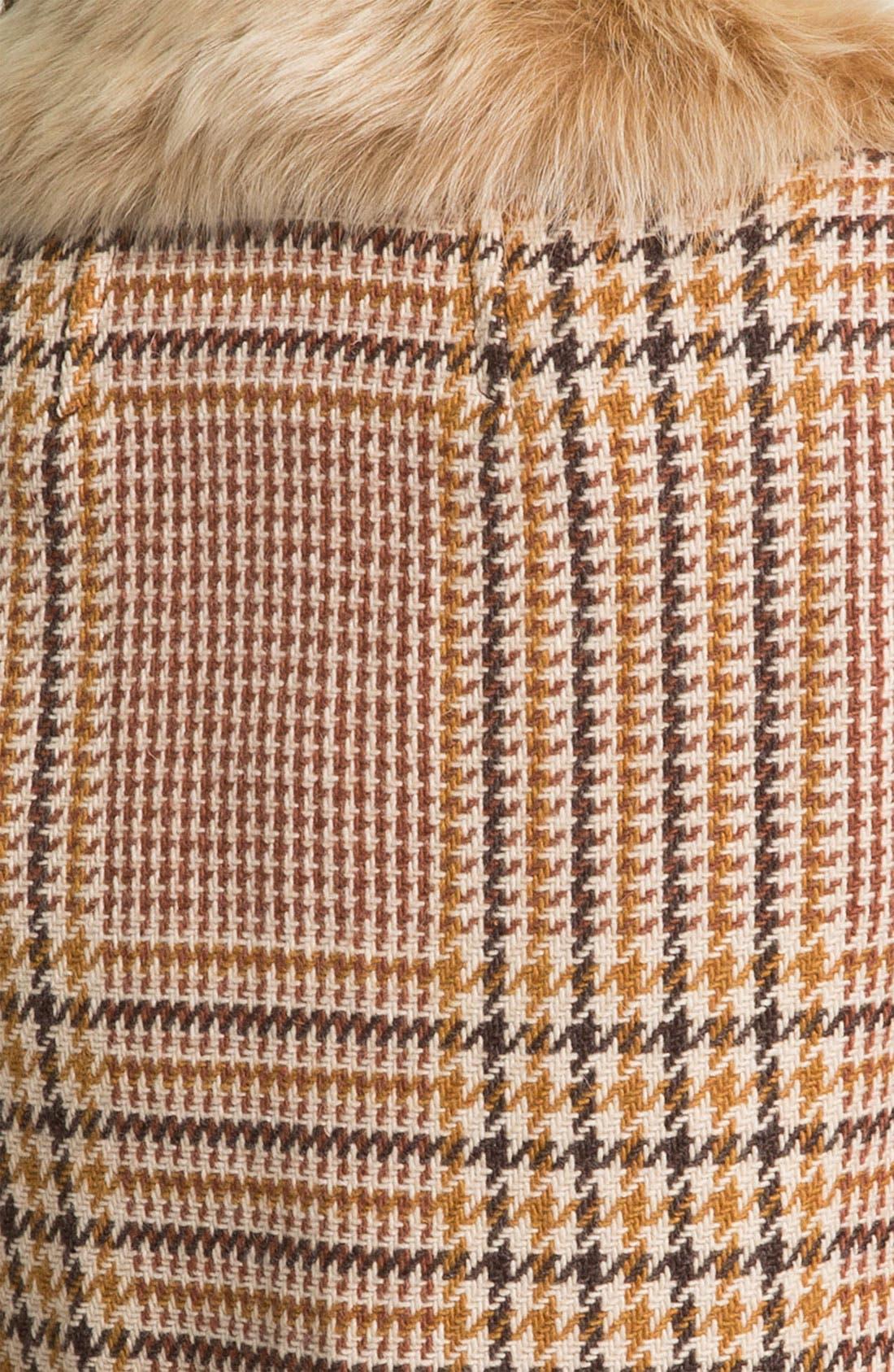 Alternate Image 3  - Tory Burch 'Jasmine' Genuine Lamb Fur Collar Coat (Online Exclusive)