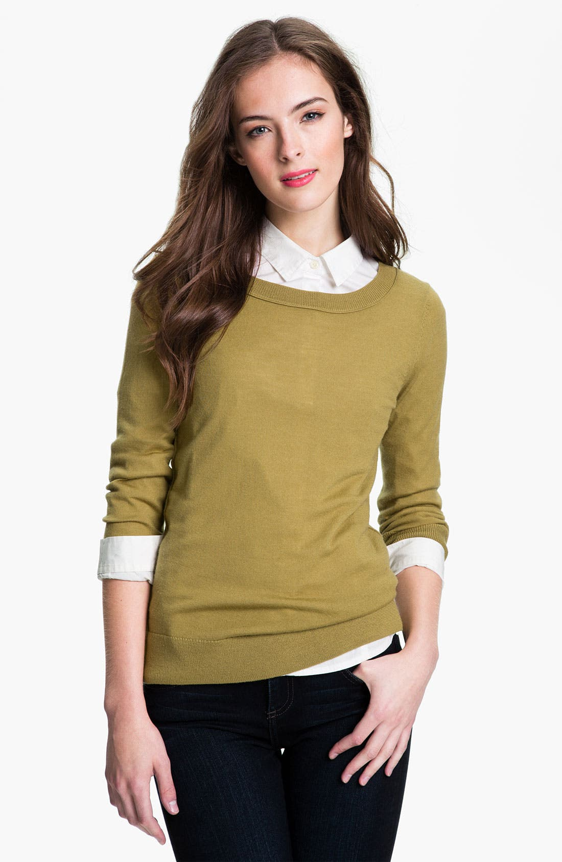 Alternate Image 1 Selected - Halogen® Merino Crewneck Sweater