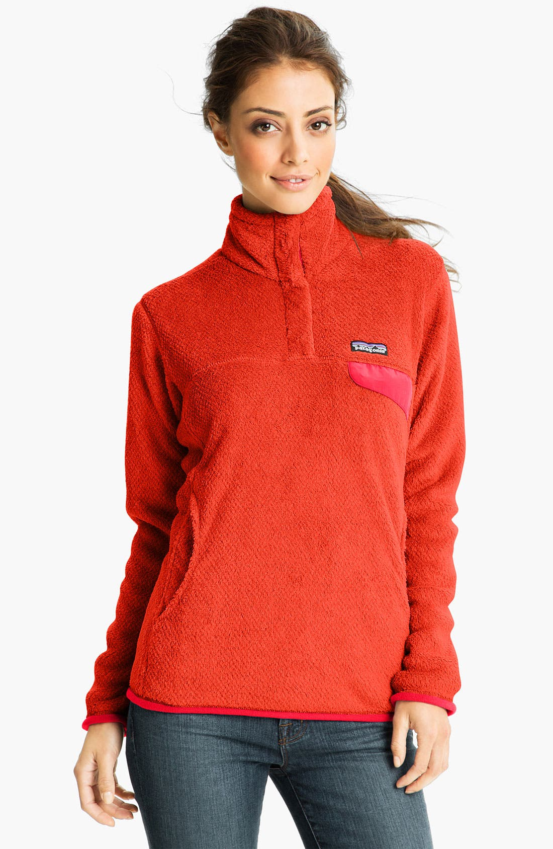 Re-Tool Snap-T<sup>®</sup> Fleece Pullover,                         Main,                         color, Crawdad