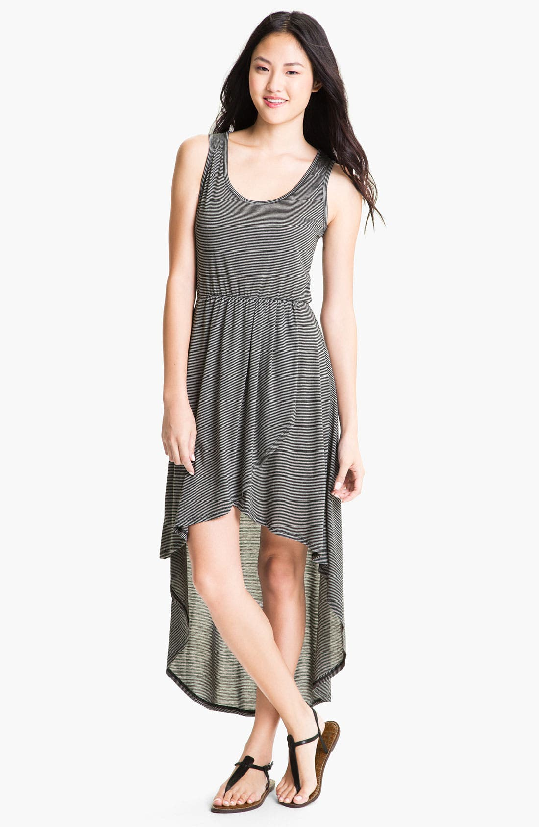 Main Image - Loveappella High Low Maxi Dress (Petite)