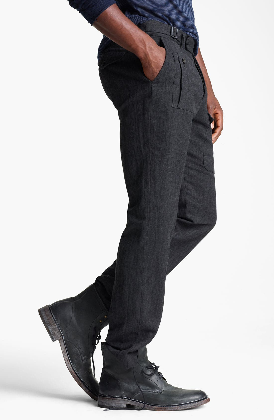 Alternate Image 3  - John Varvatos Collection Herringbone Slim Fit Pants