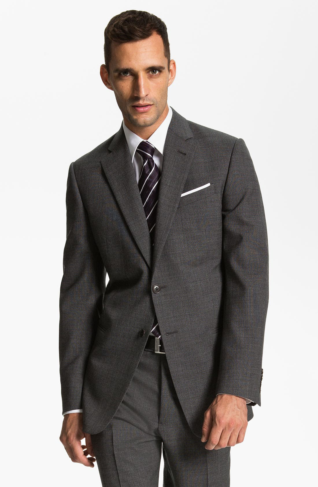Alternate Image 1 Selected - Armani Collezioni 'Giorgio' Trim Fit Suit