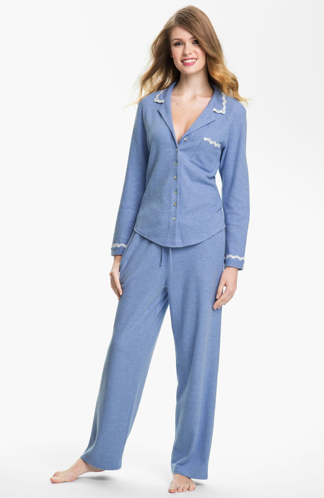 Alternate Image 1 Selected - Eileen West 'Evening Star' Thermal Pajamas