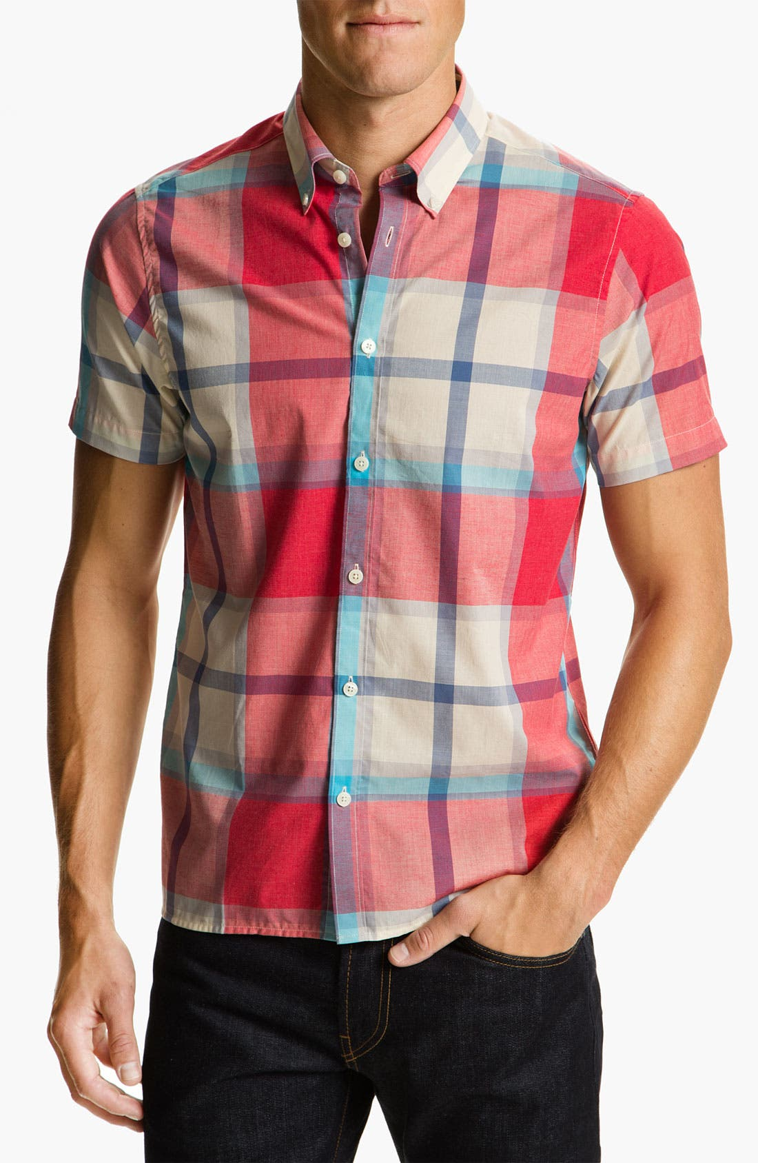 Alternate Image 1 Selected - Ben Sherman Short Sleeve Woven Shirt