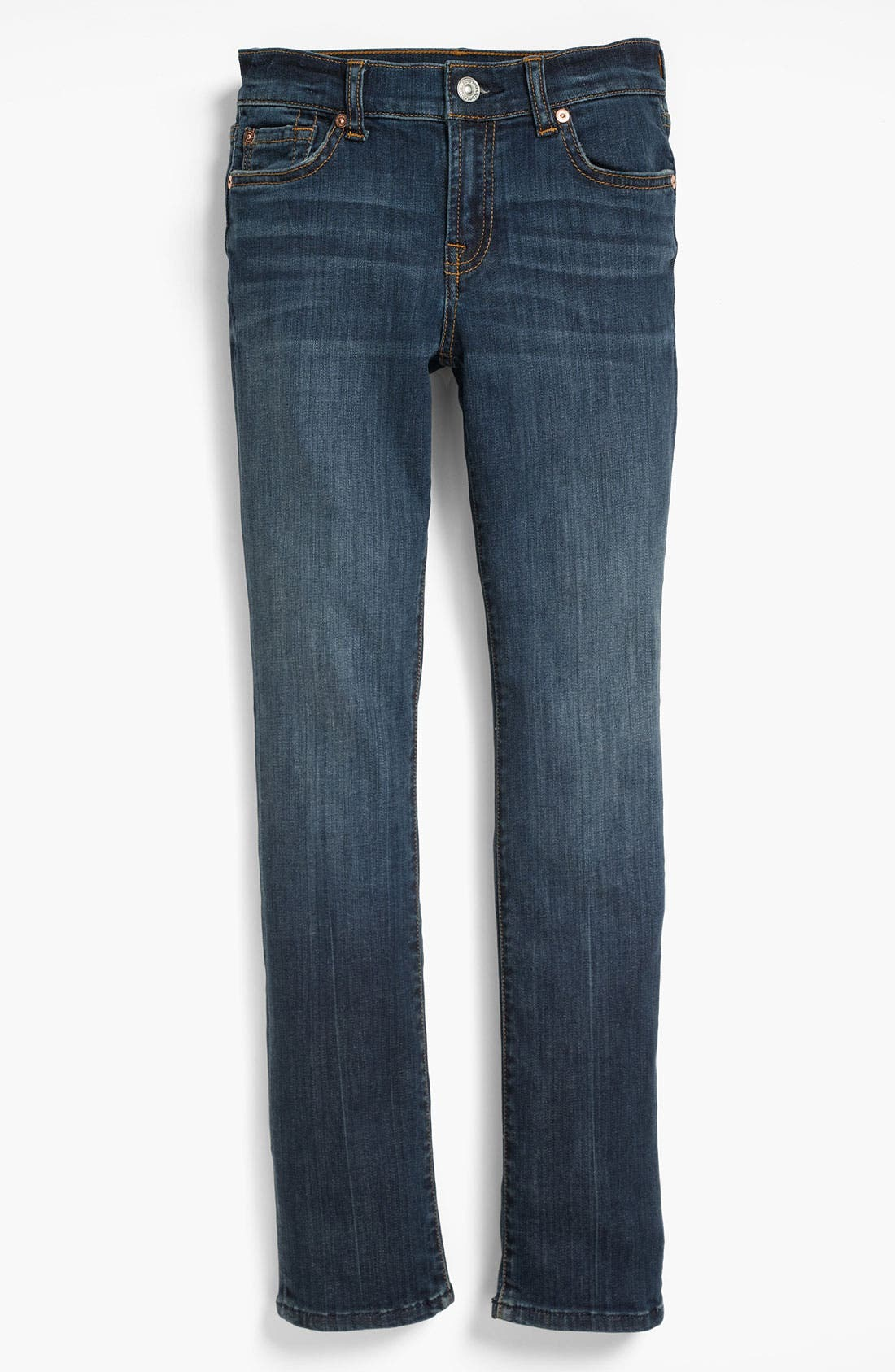 Alternate Image 2  - 7 For All Mankind® Skinny Jeans (Big Girls)