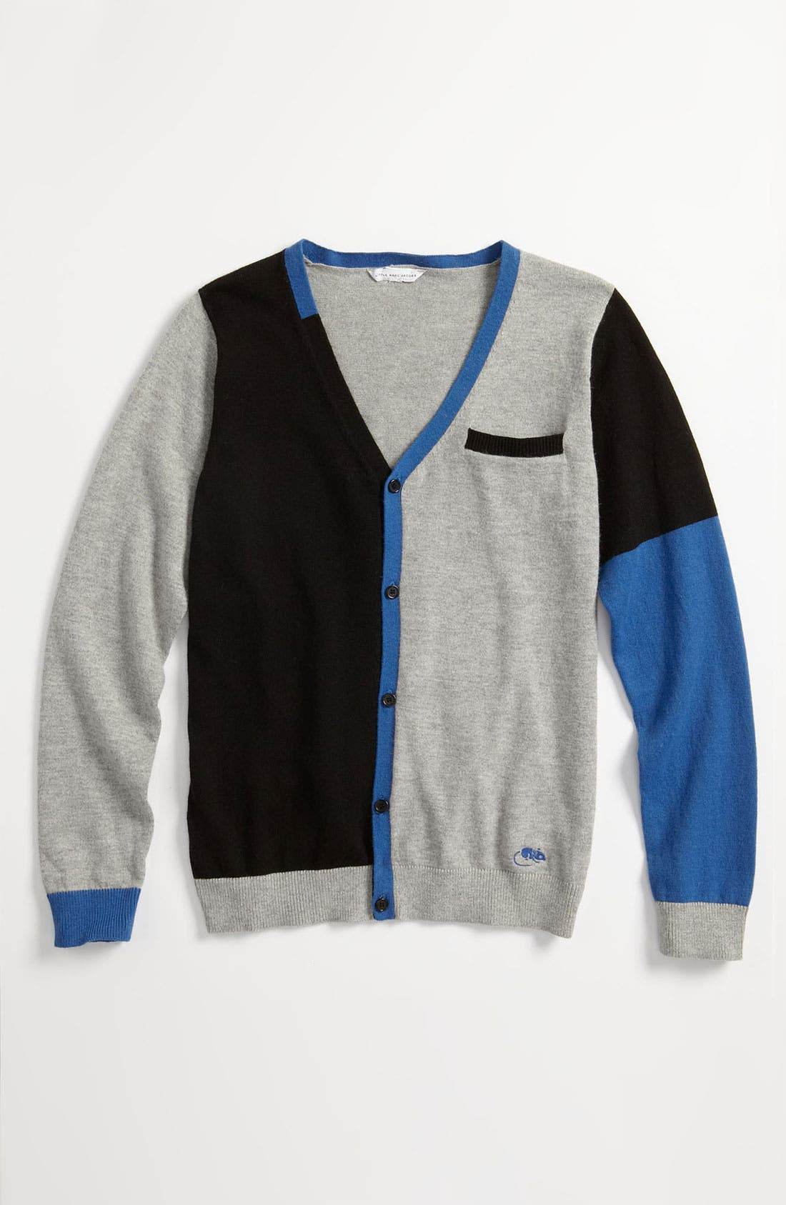 Main Image - LITTLE MARC JACOBS Colorblock Cardigan (Toddler, Little Boys & Big Boys)