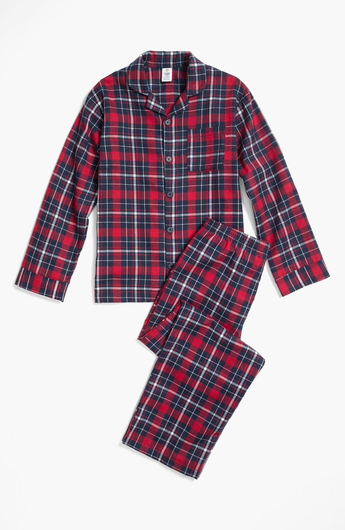 Main Image - Tucker + Tate Flannel Pajama Set (Little Boys & Big Boys)