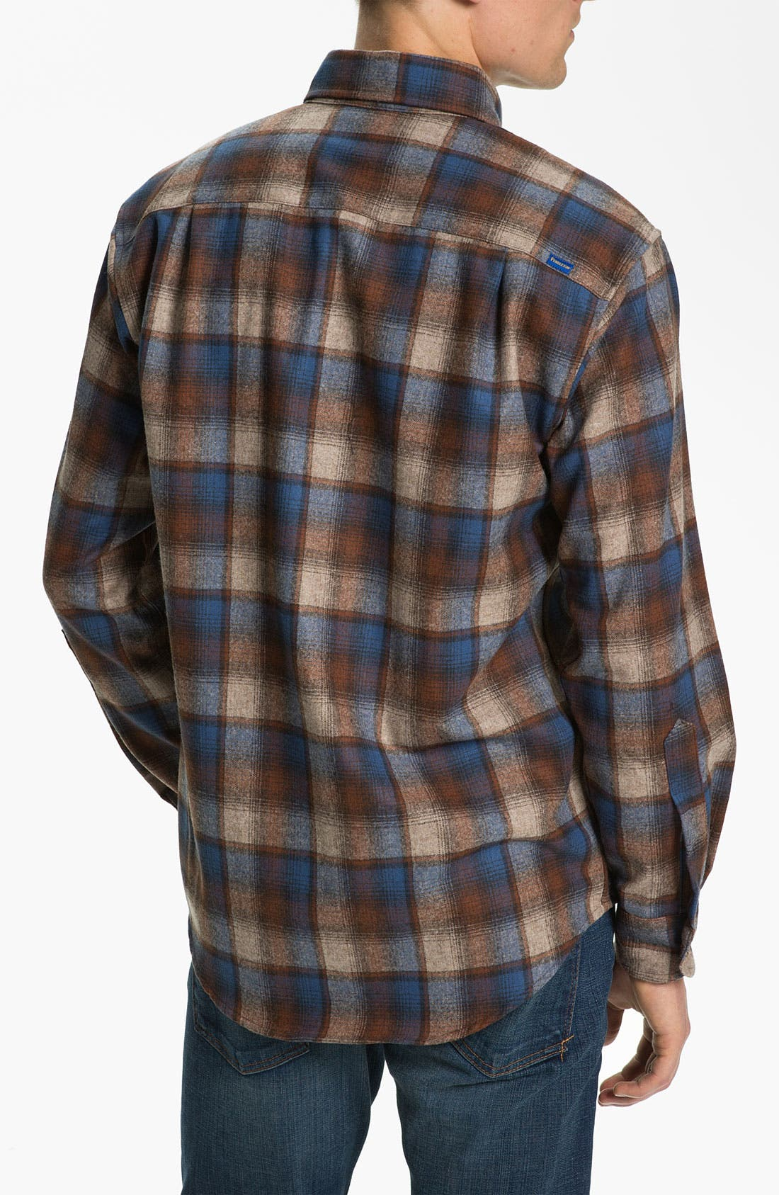 Alternate Image 2  - Pendleton 'Fireside' Fitted Plaid Wool Flannel Shirt