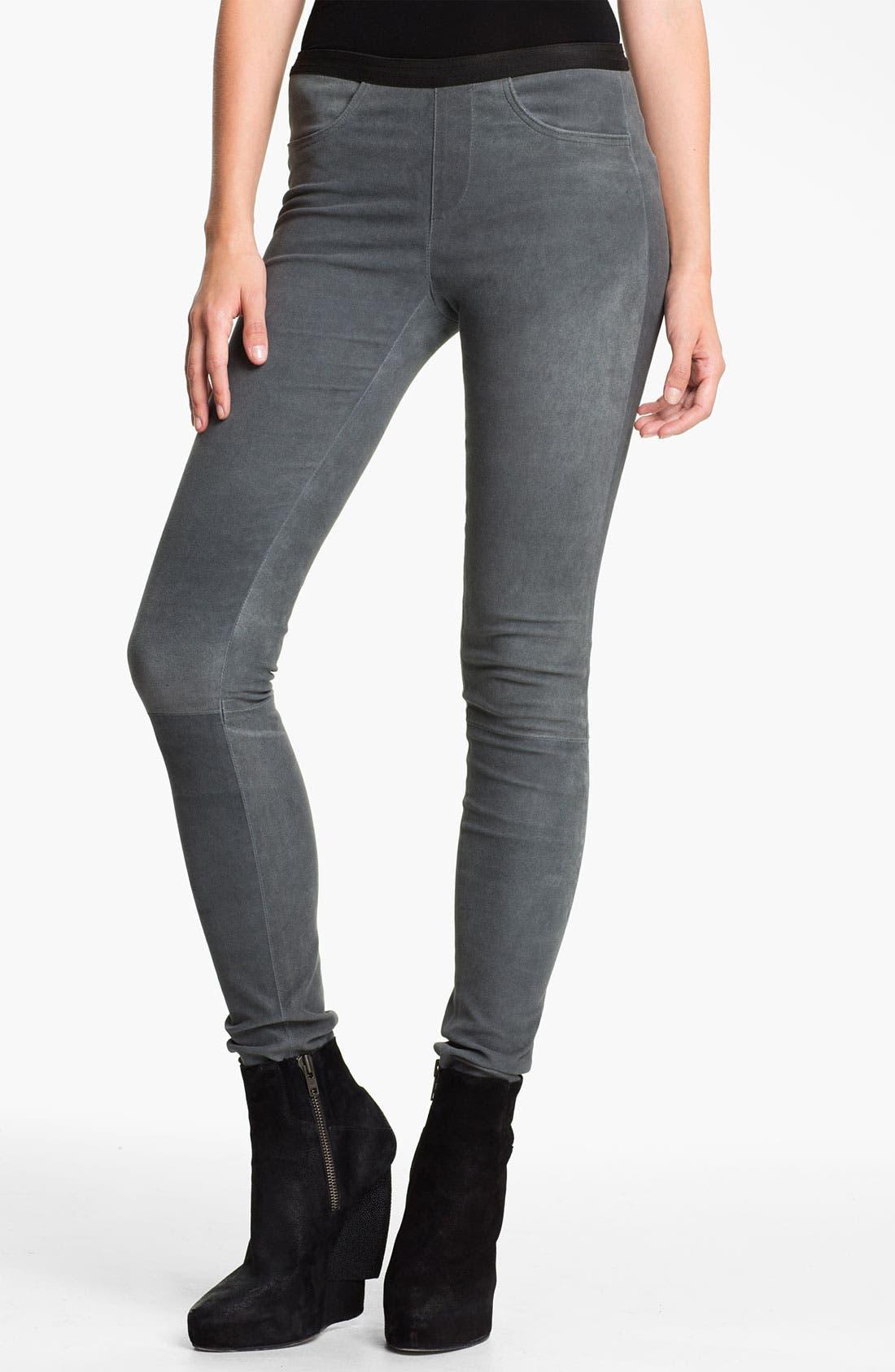 Alternate Image 1 Selected - Helmut Lang Patina Lambskin Leather Leggings