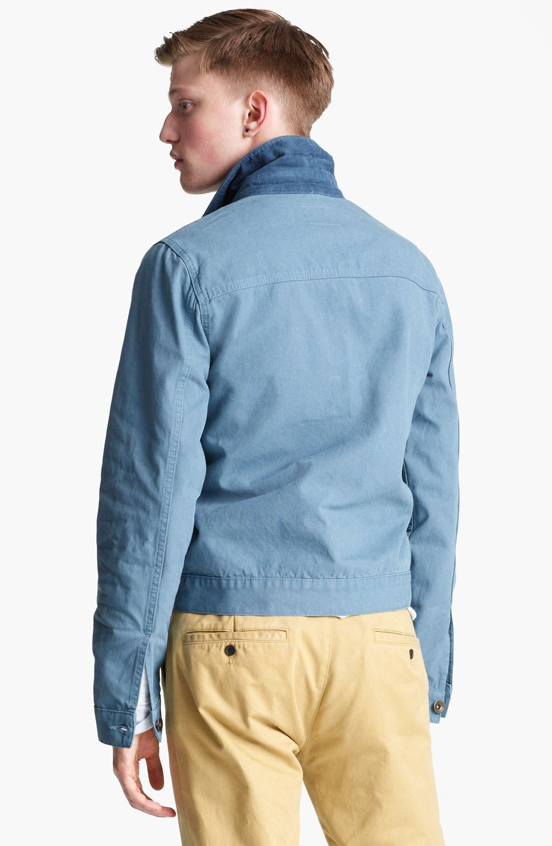 Alternate Image 2  - Topman Corduroy Collar Denim Jacket