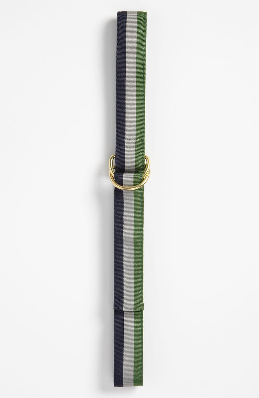Alternate Image 1 Selected - Brooks Brothers Striped Ribbon Belt (Big Boys)