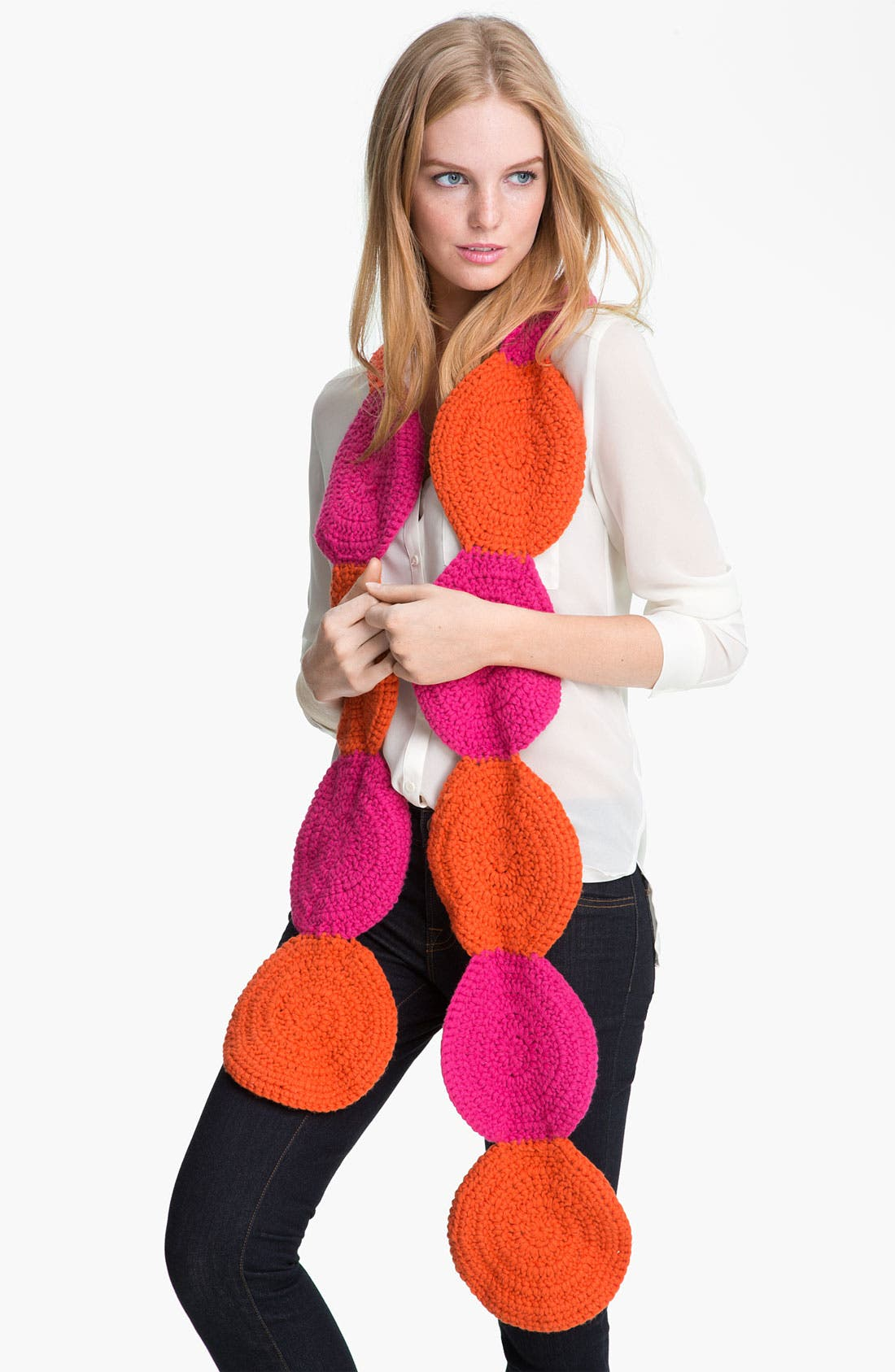 Alternate Image 1 Selected - kate spade new york 'women for women' crochet circle scarf