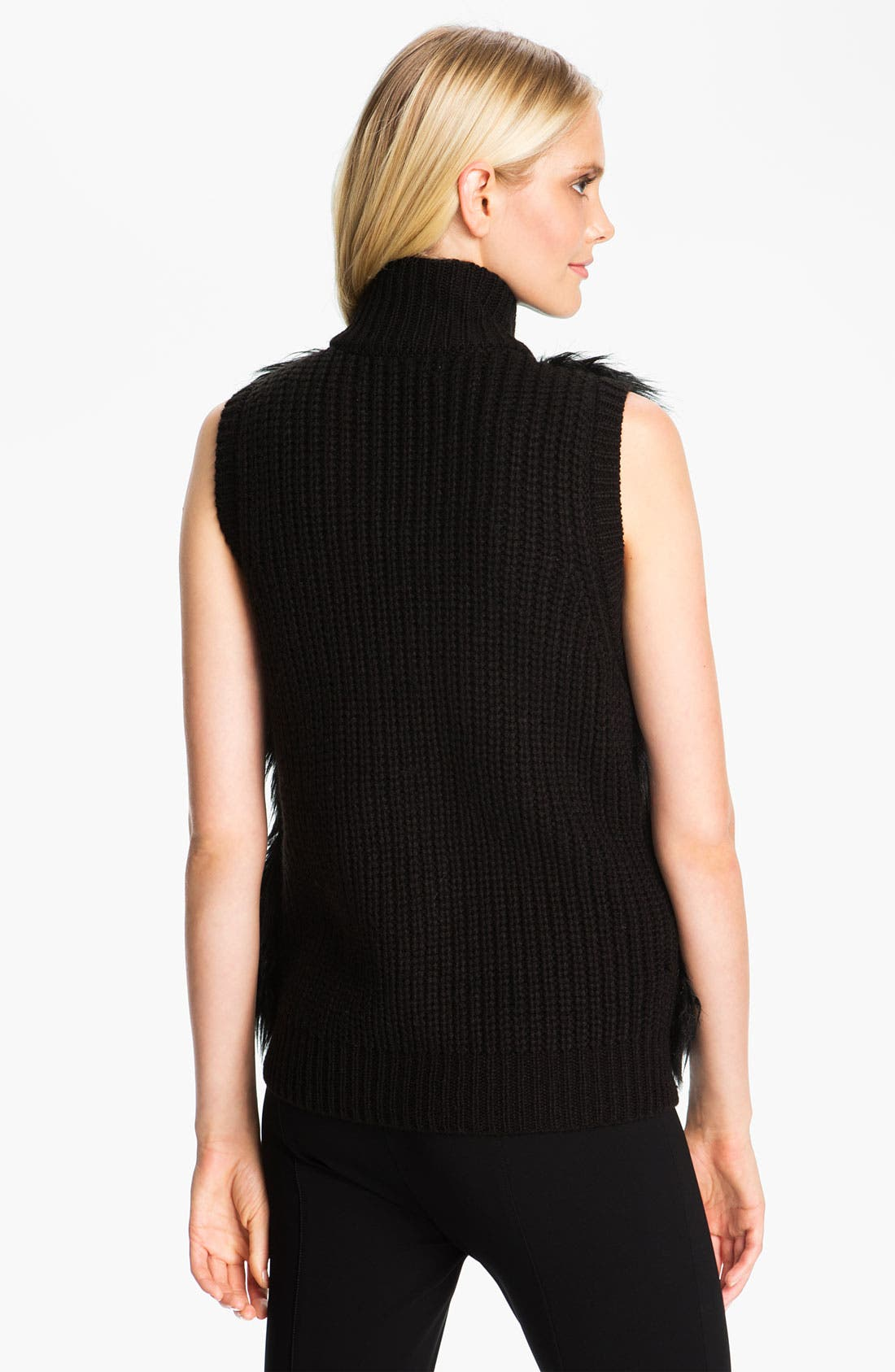 Alternate Image 2  - MICHAEL Michael Kors Faux Fur Front Sweater Vest