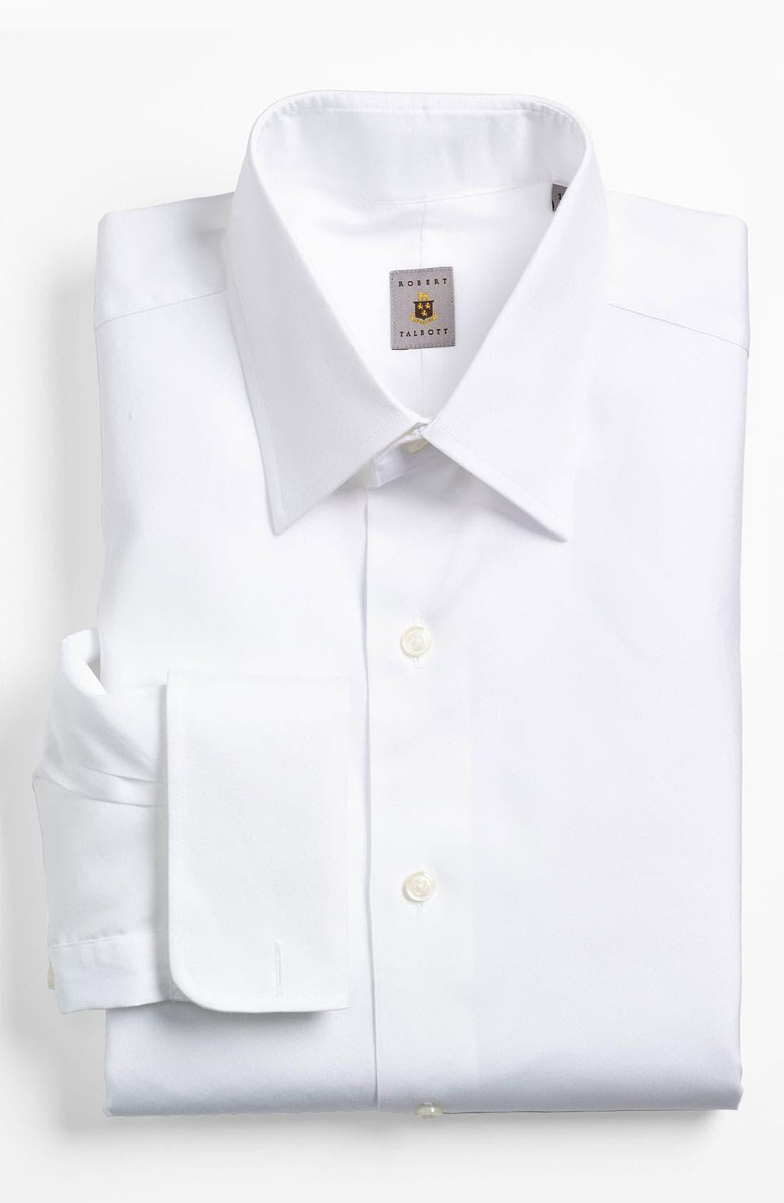 Classic Fit Tuxedo Shirt,                         Main,                         color, White