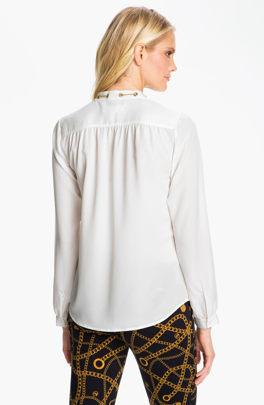 Alternate Image 2  - MICHAEL Michael Kors Chain Detail Crepe Blouse