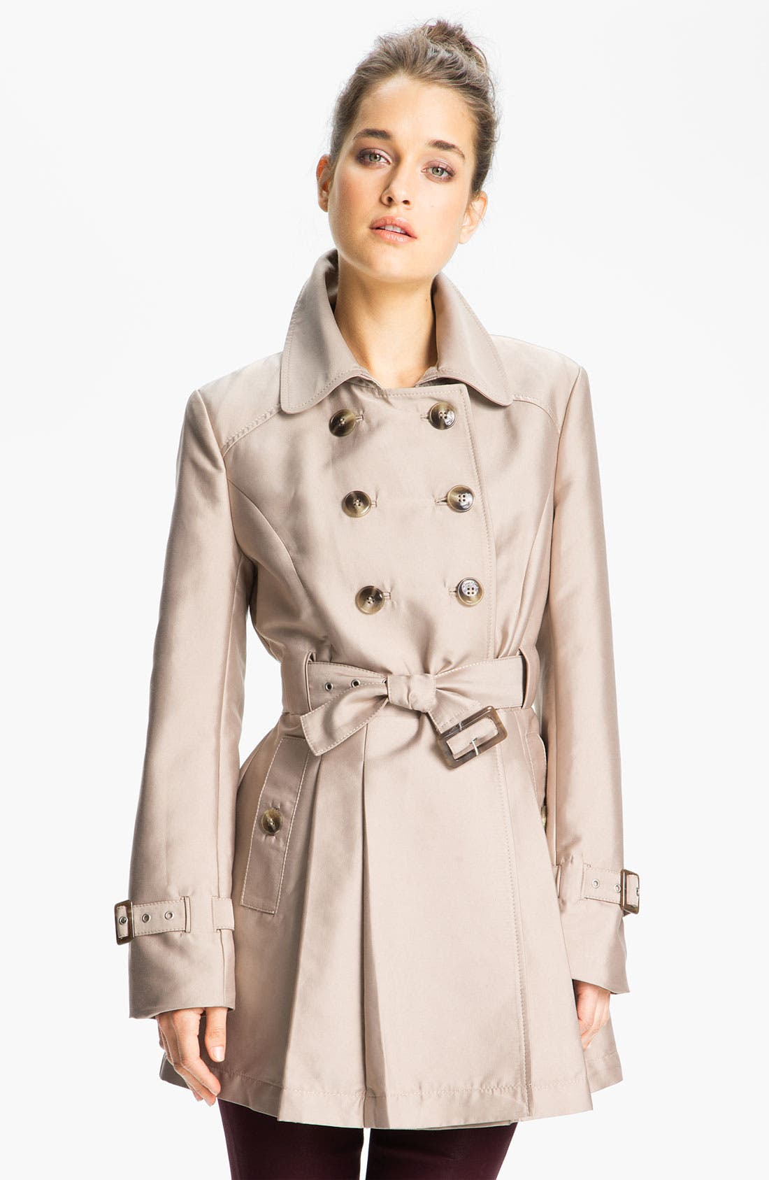 Main Image - Kenneth Cole New York Double Breasted Skirted Trench (Online Exclusive)