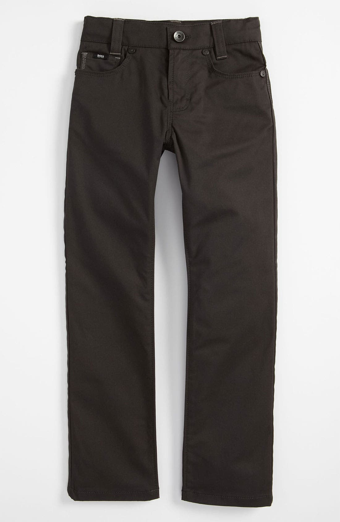 Alternate Image 2  - BOSS Kidswear Straight Leg Twill Pants (Little Boys & Big Boys)