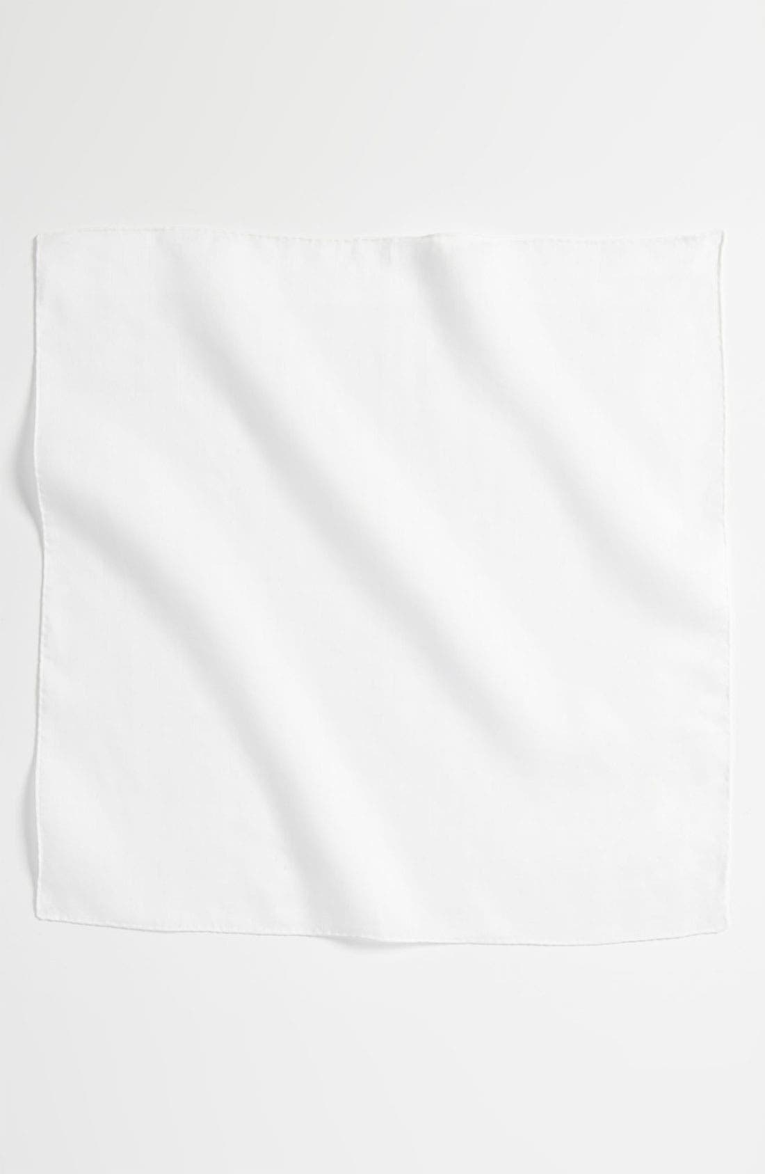 Linen Pocket Square,                             Alternate thumbnail 2, color,                             White
