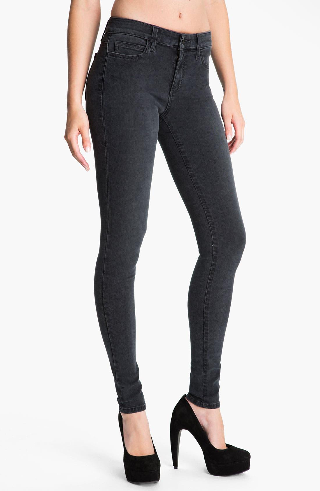 Alternate Image 1 Selected - Joe's Skinny Stretch Jeans (Black)