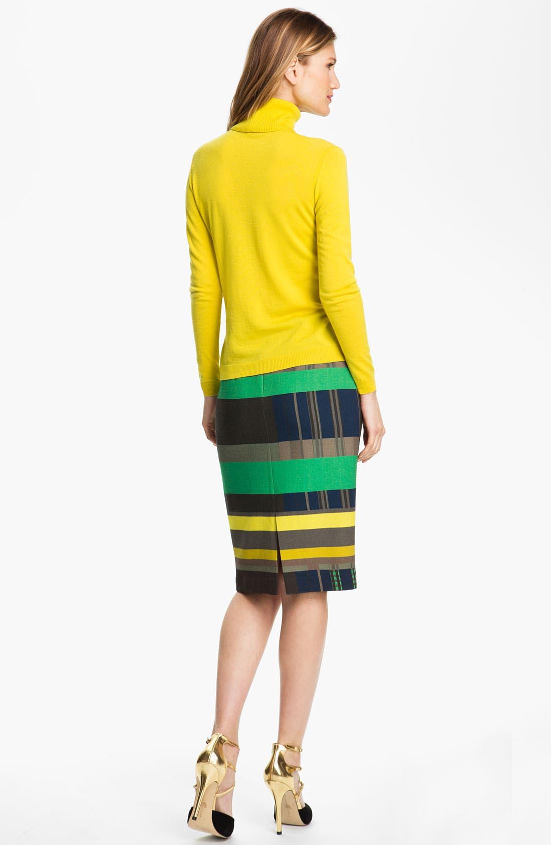 Alternate Image 5  - Lafayette 148 New York Cubism Print Skirt