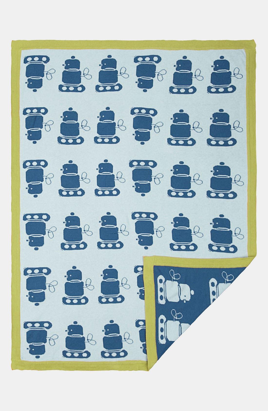 Main Image - Living Textiles 'Mod Robot' Jacquard Blanket