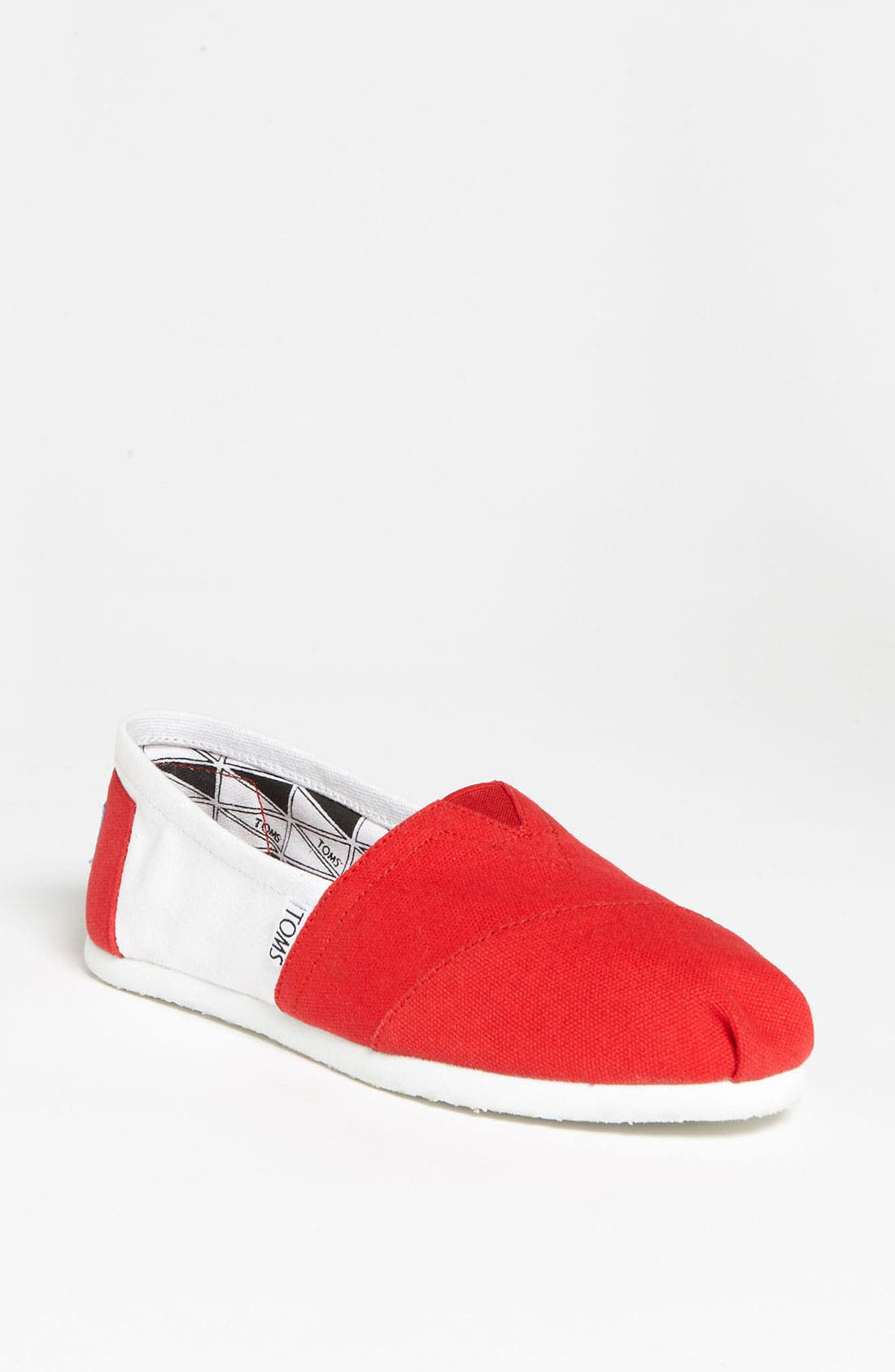 Alternate Image 1 Selected - TOMS 'Campus Classics - University of Wisconsin' Slip-On (Women)