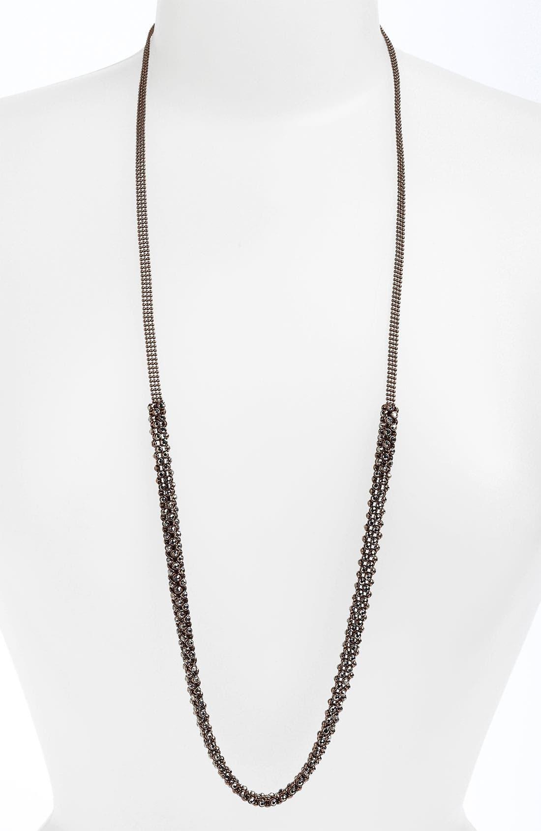 Alternate Image 1 Selected - Natasha Couture Mini Rhinestone Layering Necklace