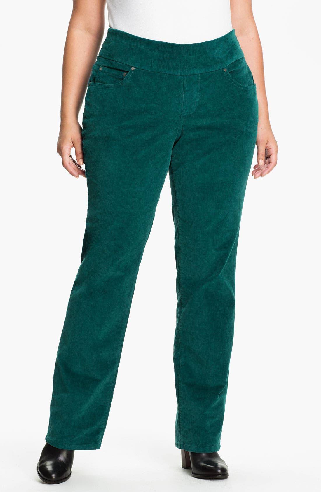 Alternate Image 1 Selected - Jag Jeans 'Peri' Straight Leg Corduroy Pants (Plus)