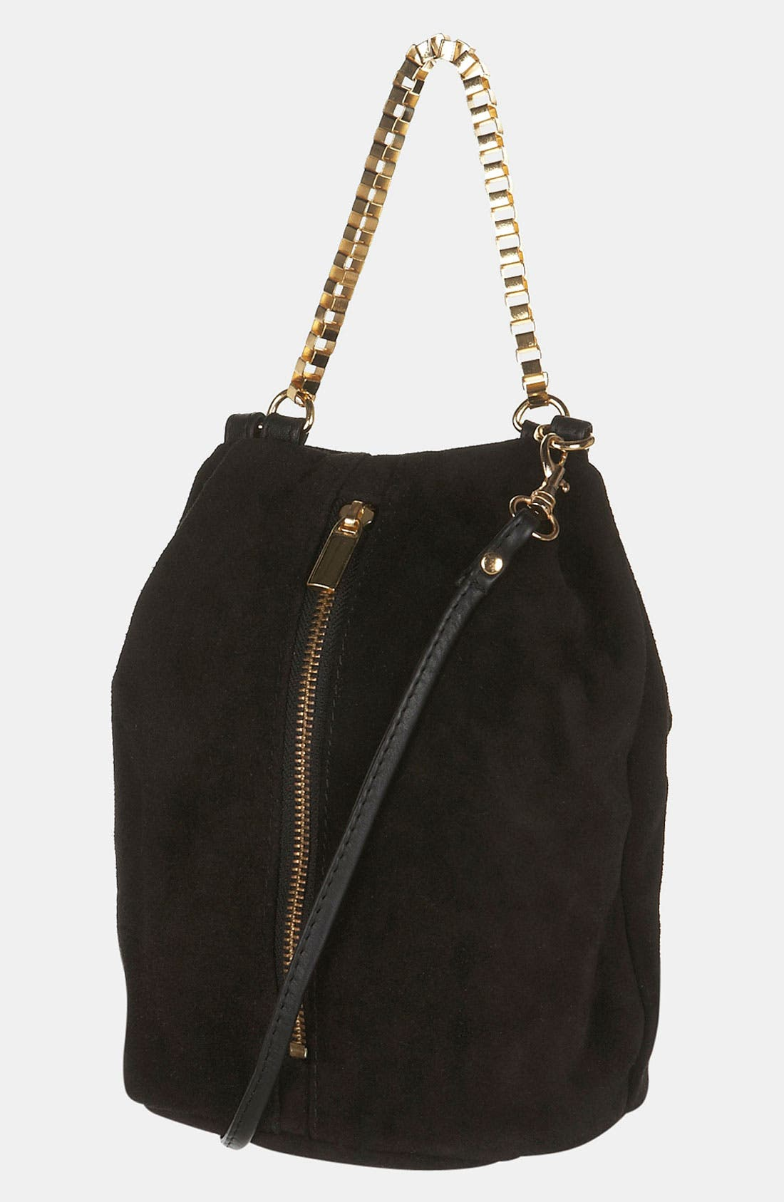 Main Image - Topshop Box Chain Suede Bag