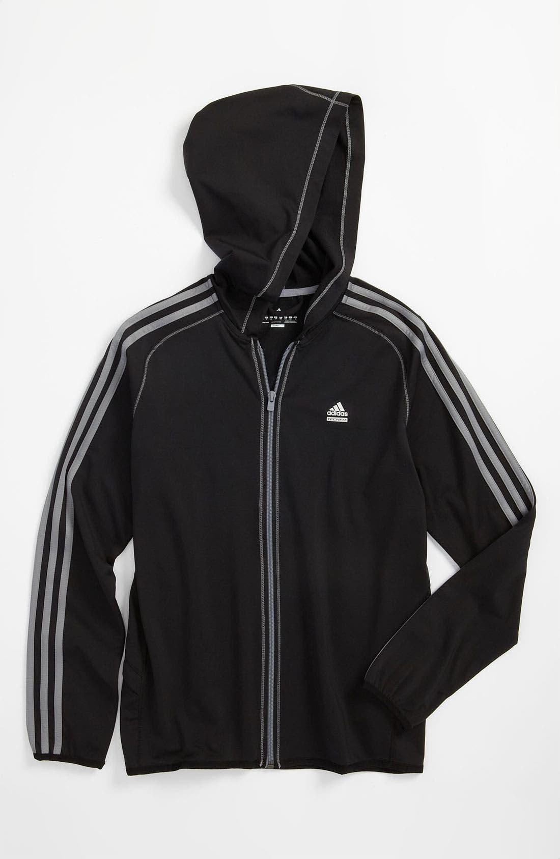 Alternate Image 1 Selected - adidas 'Tech Fit' Hoodie (Big Boys)