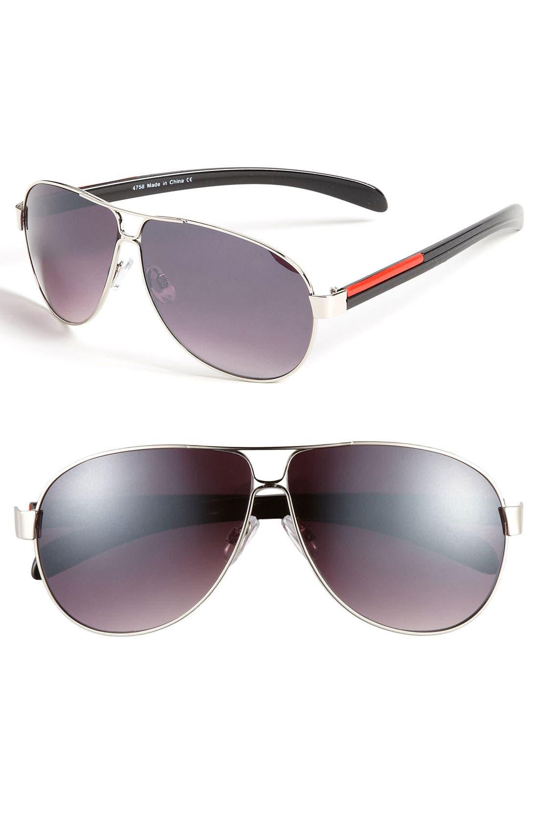 Alternate Image 1 Selected - KW 'Explorer' Aviator Sunglasses