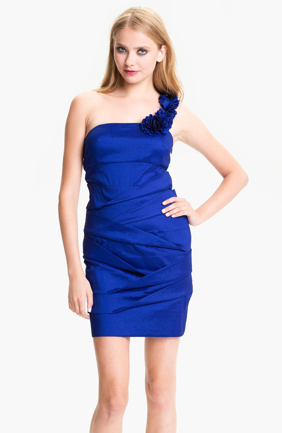Main Image - Hailey by Adrianna Papell Petal Strap Origami Taffeta Dress