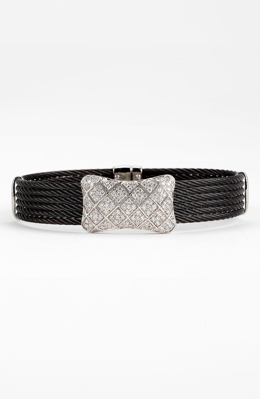 Alternate Image 1 Selected - ALOR® Diamond Bow Tie Bracelet