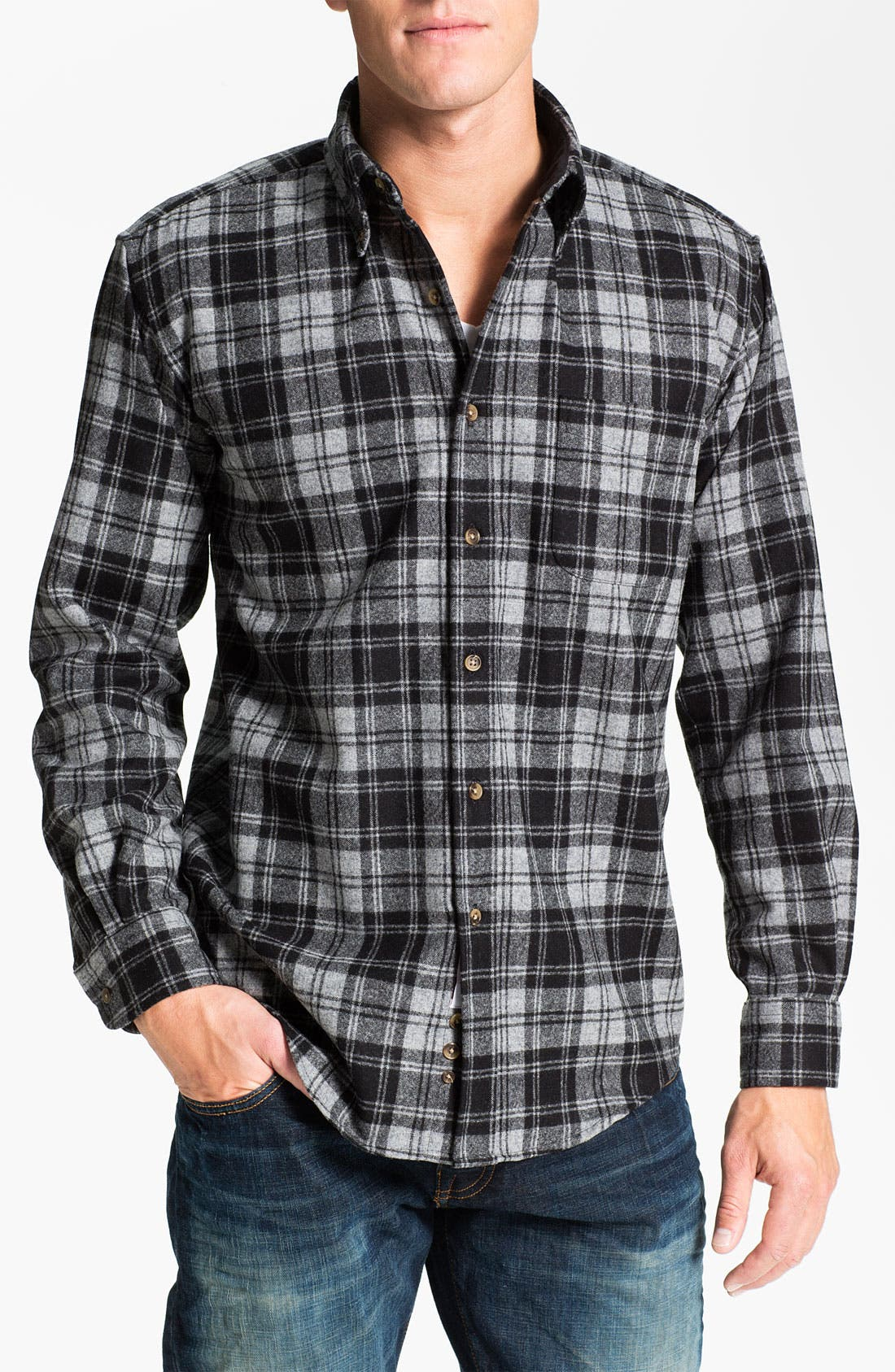 Alternate Image 1 Selected - Pendleton 'Fireside' Wool Plaid Flannel Shirt