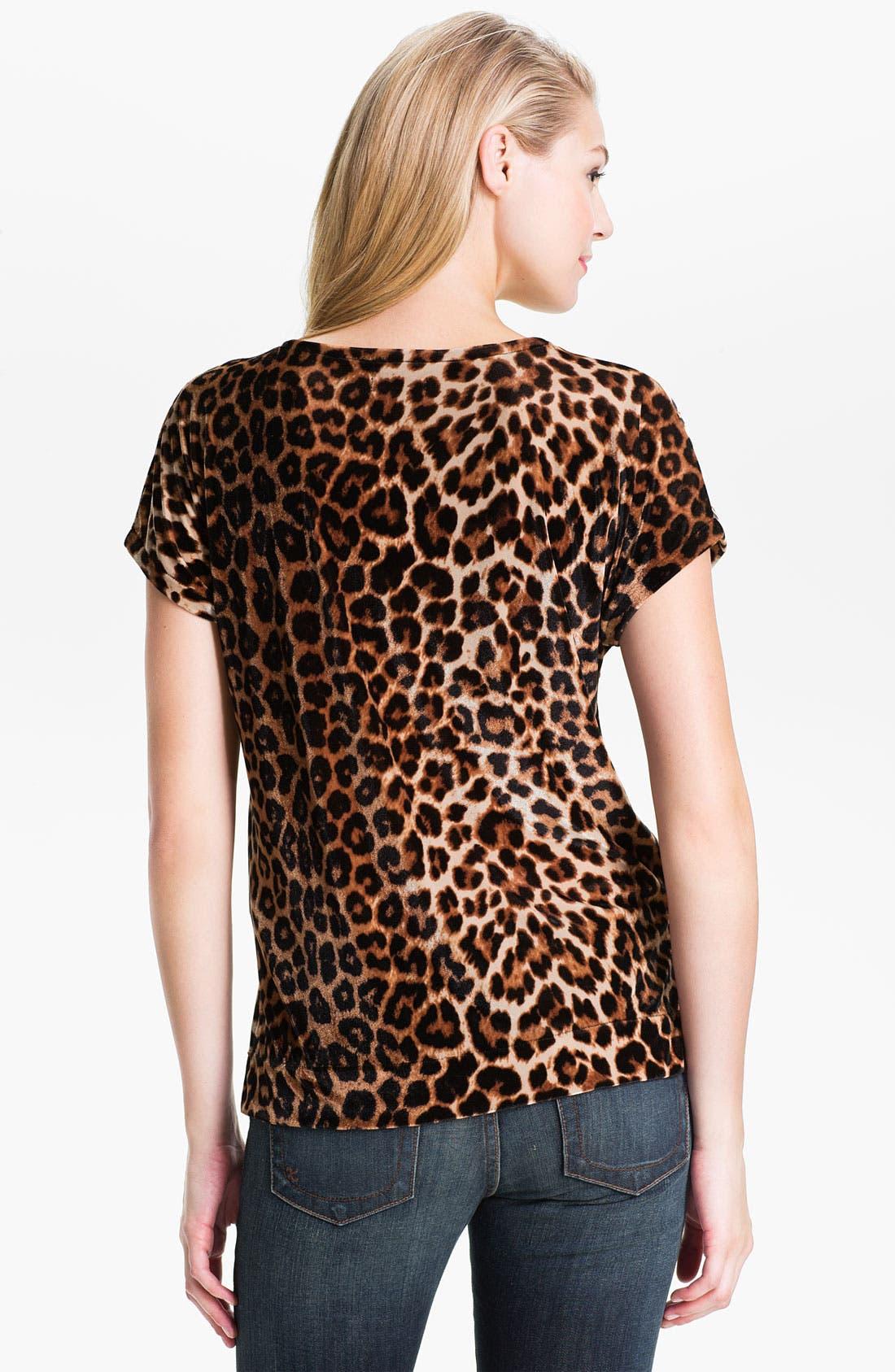 Alternate Image 2  - Lucky Brand Leopard Print Velveteen Top (Online Exclusive)