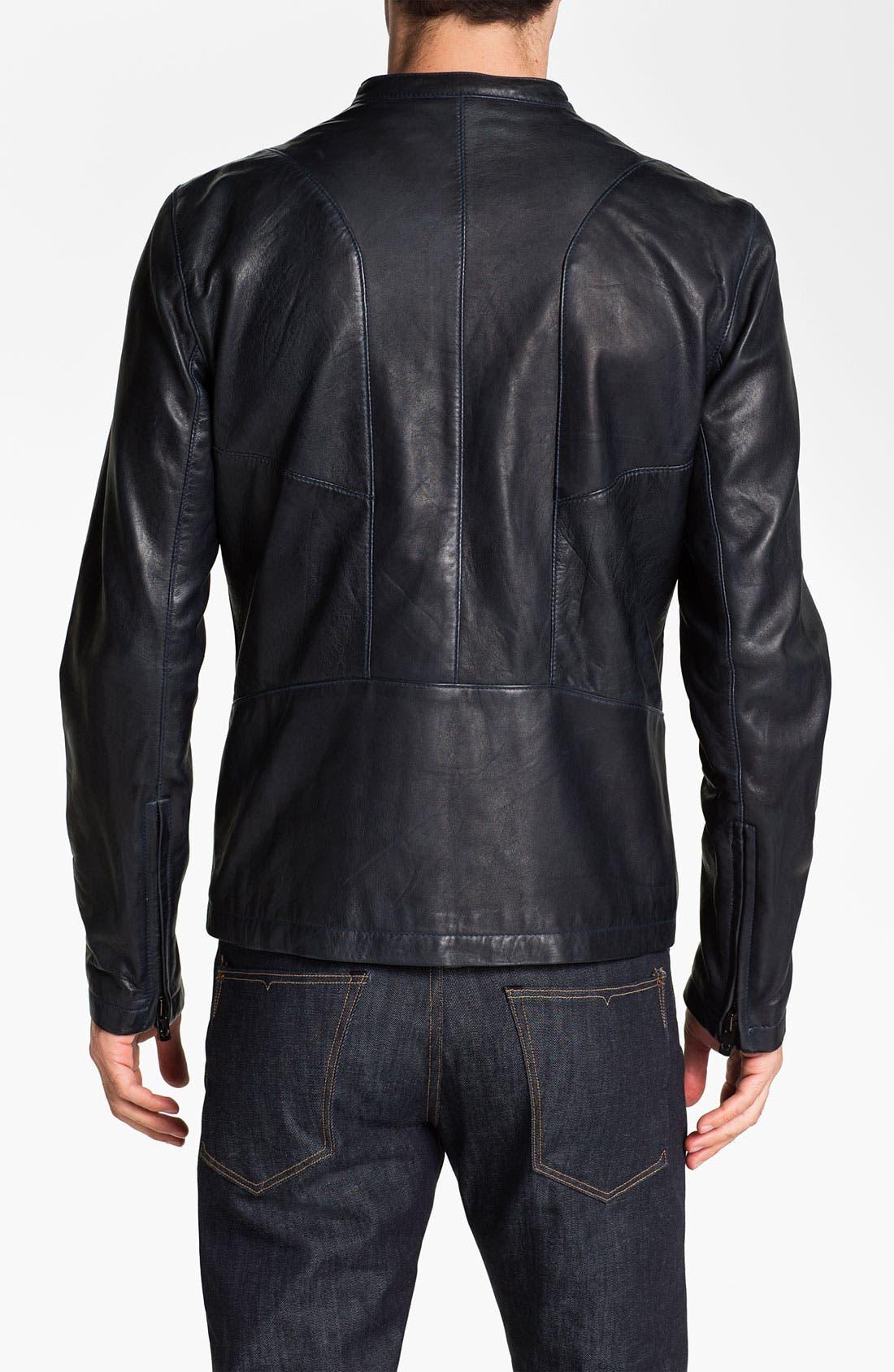 Alternate Image 2  - Bod & Christensen Leather Moto Jacket
