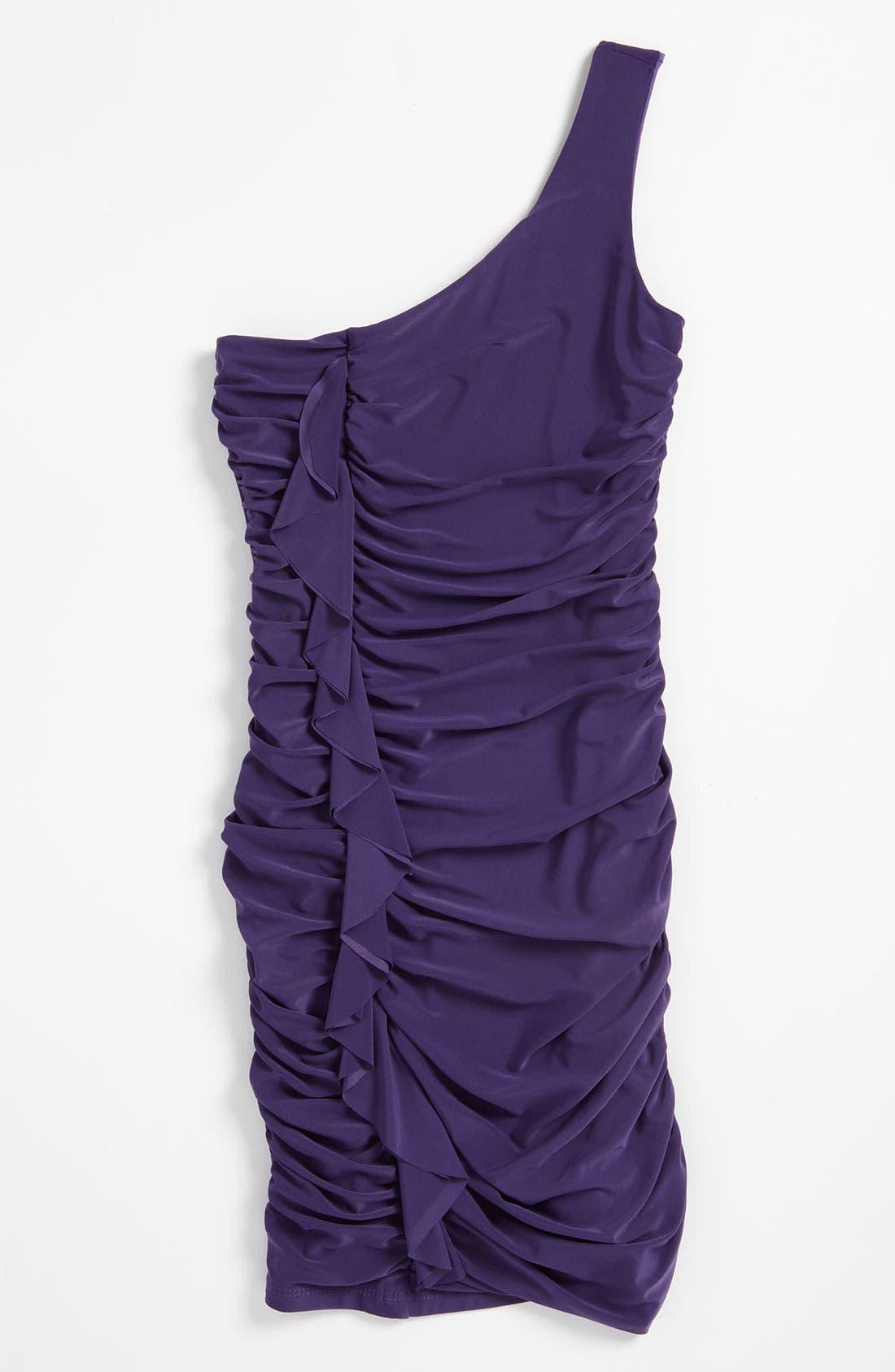 Main Image - Un Deux Trois One Shoulder Dress (Big Girls)