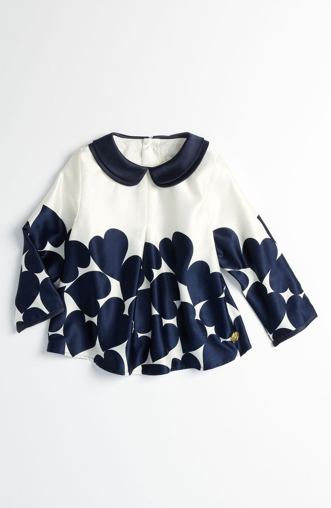 Alternate Image 1 Selected - LITTLE MARC JACOBS Heart Print Blouse (Infant)